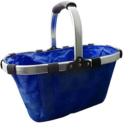 A-szcxtop ambiental plegable cesta cesta de la compra con bolsillo interior portátil y duradero