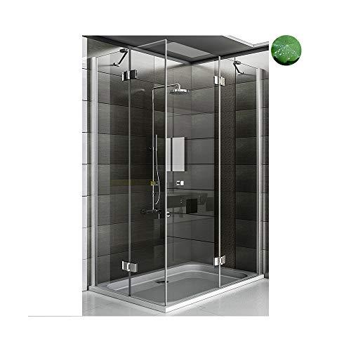 Design Duschkabine 90x140x195 cm Wannenmaß Easy Clean Glas-Duschkabine Duschabtrennung in