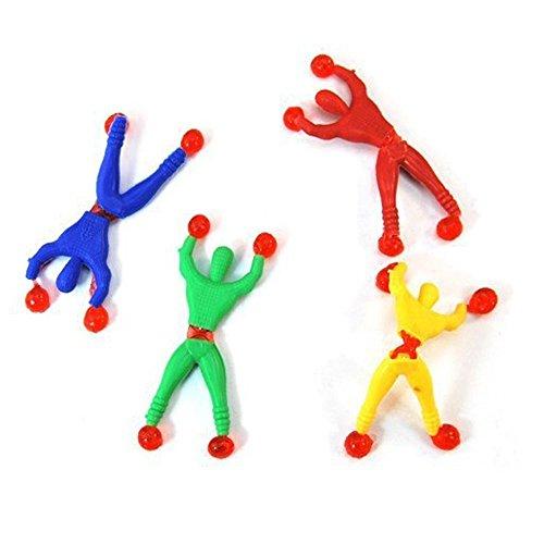 Homiki - 6 escaladores de juguete con adhesivos para niños, colores aleatorios