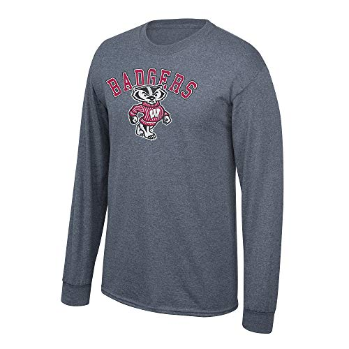 eLITe NCAA Herren anthrazit Vintage Long Sleeve T-Shirt, Herren, NCAA Long Sleeve T Shirt Charcoal Vintage, Dunkles Erika, XX-Large -