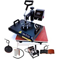 MY PRINT | Heat Press 5 in 1 Digital Multi Functional Sublimation, Vinyl Printing Machine for T-Shirts (Any Flat Product…