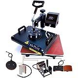 MY PRINT | Heat Press 5 in 1 Digital Multi Functional Sublimation, Vinyl Printing Machine for T-Shirts (Any Flat Product), Mug, Plate Heat Press Machine 12x15 Inch