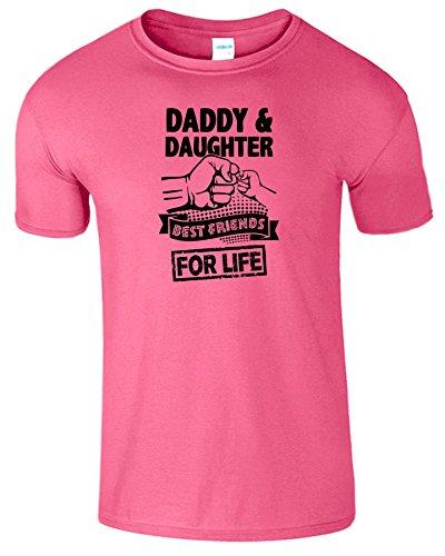 Daddy And Daughter Beste Freunde Zum Leben TShirt Komisch Tee Dunkelrosa /  Schwarz Design