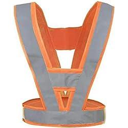 SONGDP Tiras de seguridad reflectantes Chaleco de seguridad de alta visibilidad Bandas elásticas y fácilmente ajustables para correr, ciclismo, seguridad en el automóvil, emergencias en la carretera /