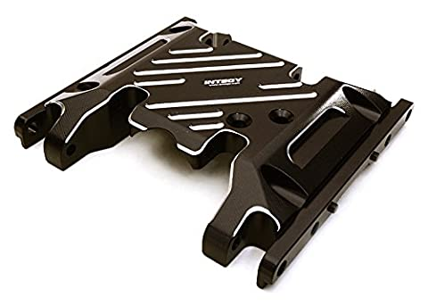 Integy RC Model Hop-ups C27127BLACK Billet Machined Alloy Center Skid Plate for Axial SCX10 II w/ LCG Transfer Case