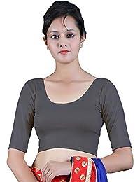 b76f8b653b2ff Gebisha Fashion Women s Lycra Half Sleeve Plain Streatchable Blouse
