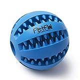 PetPäl Hundeball mit Zahnpflege-Funktion Noppen Hundespielzeug aus Naturkautschuk | RobusterHunde Ball Ø 7cm | Hundespielball für Große & Kleine Hunde |...