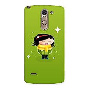 Delighted Laughing Cute Girl Print Back Case Cover for LG G3 Stylus