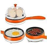Panzl Compact and Versatile Egg Boiler + Non-Stick Electric Frying Pan (Multi Color)