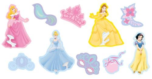 Decofun Disney Princesses Boîte de 10 décorations murales en mousse