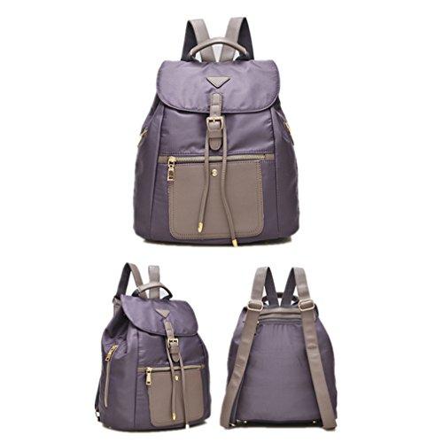 Alla moda da 2 litri, da donna, in Nylon leggero High School Student-Zaino Mini, IPAD, 52 pezzi Grigio