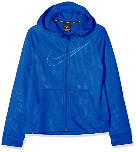 Nike Jungen B NK Dry Hoodie FZ EMB Leg Jacket,Blau (Game royal/Blue Hero), Medium