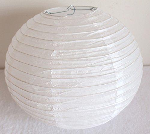 AAF Nommel®, 511, Lampion 1 Stk. Papier weiss unifarben japanisch rund Durchmesser 30 cm