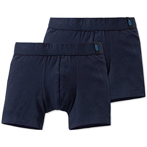 Jungen Boxer-shorts (Schiesser Jungen 95/5 2pack Shorts Boxershorts, Blau (Nachtblau 804), 116 (2er Pack))