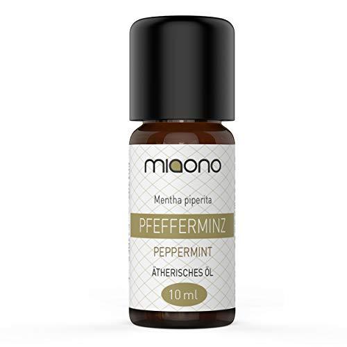 Pfefferminzöl - 100% naturreines, ätherisches Öl (10ml) von miaono (Glasflasche)