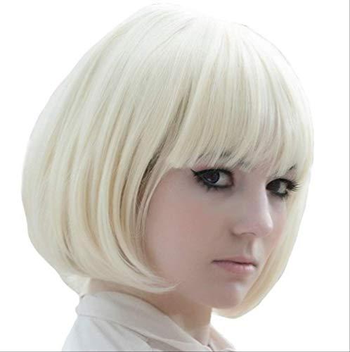 Eigenen Kostüm Passen Sie Tanz Ihre - Europäische Und Amerikanische Persönlichkeit Mode Animation Perücke Kurze Haare Qi Liuhai Weiß Bob Gesicht Reduktion Alter Geeignet Für Jede Haut Farbe Urlaub Party Tanz Tragen