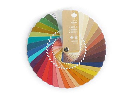 Farbpass Herbst-Frühling (Warm Autumn) als kleiner Fächer mit 35 typgerechten Farben zur Farbanalyse, Farbberatung, Stilberatung (Farben Herbst)