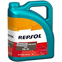 Repsol RP081L55 Premium Tech 5W-30 Aceite de Motor para Coche, 5 L