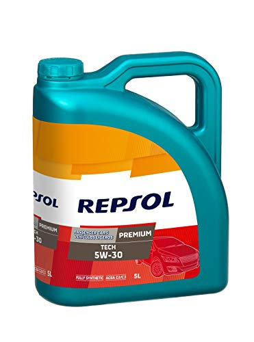 Repsol Premium Tech 5W30 Aceite lubricante para motor de vehículo ligero, 5...