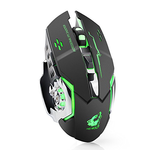 012f45f821f LexonElec® Wireless Mouse X8 Rechargeable 2.4GHz Silent Mute 7 Colors LED  Breathe Backlit 1800DPI Adjust Optical Ergonomic Cordless Gaming Mouse  Gamer Mice ...
