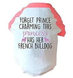 Forget prince charming this princess has her french bulldog two toned dog vest pink or blue
