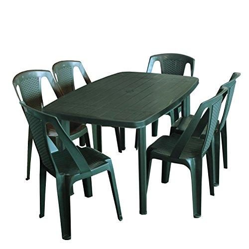 Einfaches Set 6+1 Kunststoff in Grün