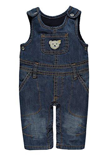 Steiff Jungen Latzhose Jeans, Blau (Dark Blue Denim 0012), 62