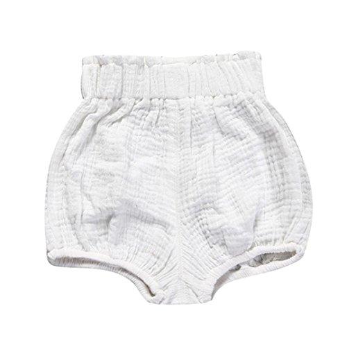 JERFER Säugling Kleinkind Kinder Unterwäsche Nettes Baby Mädchen Jungen Dot Geometrische Shorts Hosen Leggings 6M-5T (Weiß, 12M)