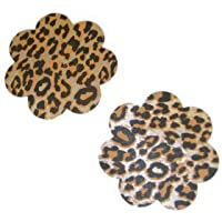 womens sexy leopard nipple pasties adhesive stickers stripper nipple covers