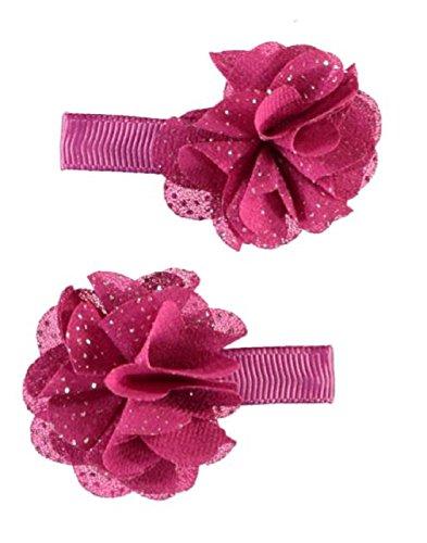 Name it ♥ Kinder Mädchen Set Haarspangen Haarklammen 2 Stück ♥ Hiona Glitter fuchsia(baton rouge) -
