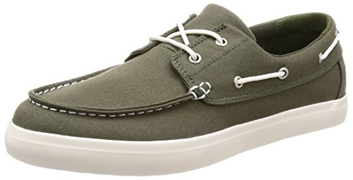 Timberland Newport bay 2-Eye, Mocassini Uomo, Verde (Grape Leaf Canvas A58), 43 EU