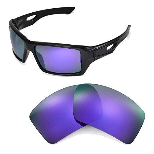 Walleva Ersatzgläser für Oakley Eyepatch 2 Sonnenbrille - Mehrfache Optionen (Lila polarisiert)