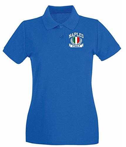 T-Shirtshock - Polo pour femme TSTEM0273 naples italy Bleu Royal