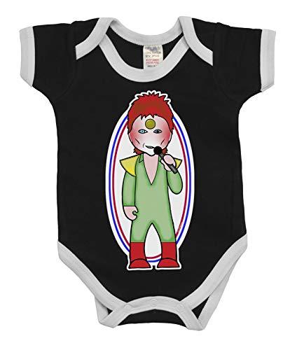 VIPWees Babys Unisex Thin White Duke Musiker Karikatur Babygrow