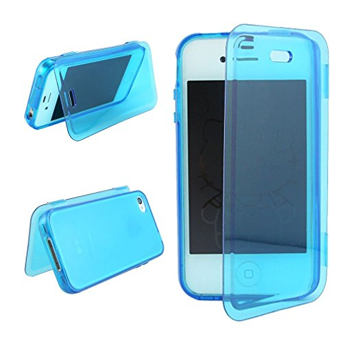 casefirst iPhone 4 4s Case, Slim Drop Protection Cover, Grip Back - Blue (Für Case 4s Iphone Carry)