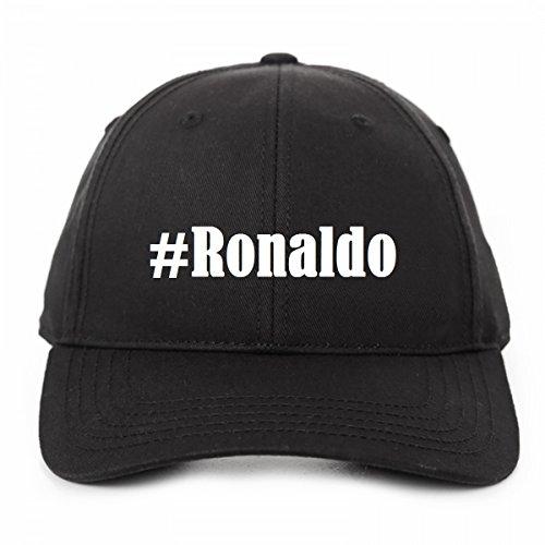Base Cap Hashtag '#Ronaldo'Größe'uni'Farbe'Schwarz'Druck'Weiss