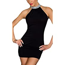5334040a6b80 Vestiti Donna Eleganti Estivi da Cerimonia da Sera Festa Matita Abito Senza  Maniche Ll Collo Appendente