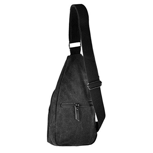 Pixnor Cool Mens sport Outdoor Casual tela sbilanciare zaino borsa tracolla Sling Crossbody petto Bag (Tela Sling)