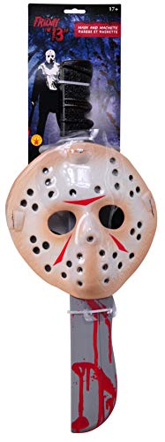 c4254ea58139 Rubie's Venerdi 13 Friday 13th Jason Vorhees SET Kit Costume Carnevale  MASCHERA e MACHETE Originale
