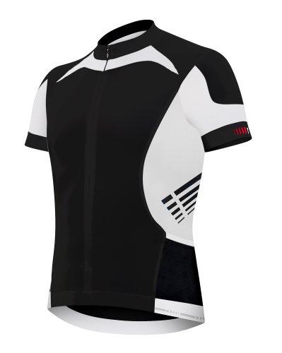 ZERORH zero rh+ Vario Maillot cycliste à manches courtes pour homme Noir  Noir Blanc Medium 70fc68fe5