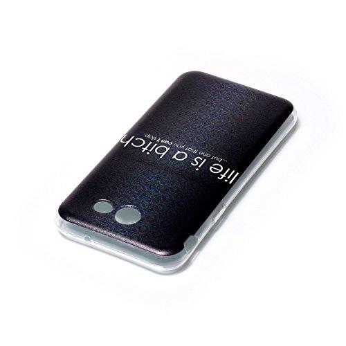 Meet de Coque Samsung Galaxy J5 6 /J5 2016 Coque Silicone Souple Transparente Motif Original,Coque TPU Slim Bumper pour Samsung Galaxy J5 6 /J5 2016 Souple Housse de Protection Flexible Soft Case Cas  Life is a bitch