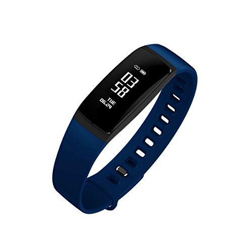 Fitness Tracker, Schritt-Marke Sleep Monitor, Sport Activity Tracker Armbanduhr, Call erinnern Nachricht Push Smart Armband für Frauen, Männer, Erwachsenen, Kind, kompatibel mit Android und iOS Handy, blau