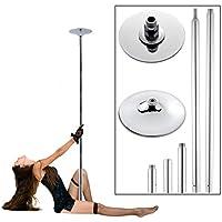 Rovate® Hochwertige Edelstahl Profi Tanzstange Pole Dance 45mm Durchmesser Länge: 223.5cm~274.5cm, Höhenverstellbar Geeignet für 2 Erwachsene