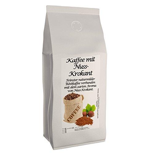 C&T Aromakaffee - Aromatisierter Kaffee Gemahlen - Nuss-Krokant 200 g - Privatrösterei Spitzenkaffee Flavoured Coffee