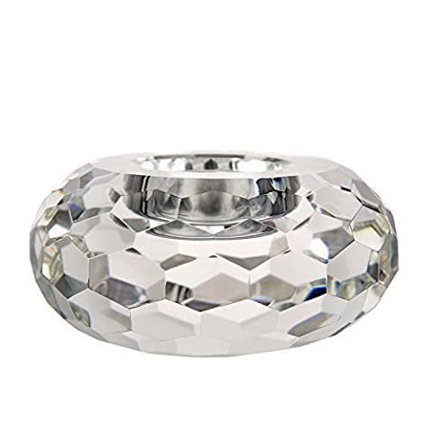 Hand Cut Crystal TeaLight Candle Holders Clear by Donoucls with