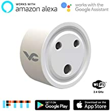 Varna Crafts Mini WiFi Enabled Remote Control Smart Socket Plug Outlet Compatible with Amazon Alexa Google Home IFTTT(5.8x5.6x5.6cm)