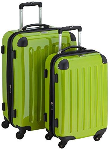 HAUPTSTADTKOFFER - Alex - 2er Koffer-Set Hartschale glänzend, 65 cm + 55 cm, 74 Liter + 42 Liter, Aubergine-Gelb