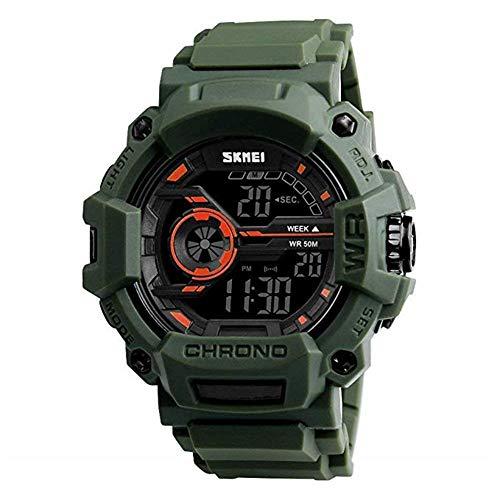 IW.HLMF Jungenuhren Digital Sport Armbanduhren Outdoor Military Style mit Alarm LED wasserdichte Stoppuhr Alter 3-5 5-7 7-10 11-15