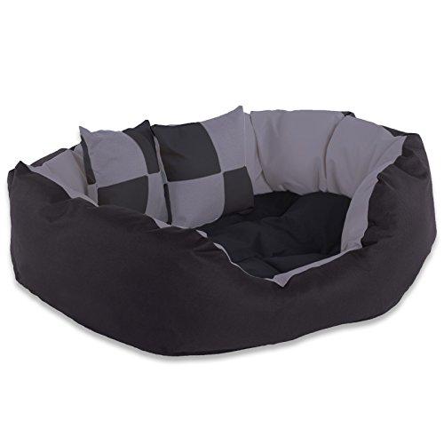 Hundebett – Hundekissen – Hundesofa abwischbar mit Wendekissen (Größe und Farbe wählbar) - 6