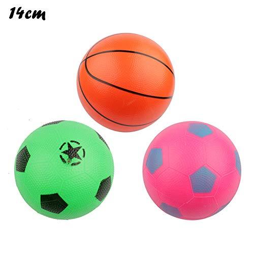 Dapei Strandball Aufblasbare Basketball/Fußball Spielzeug Wasserball Bemalter Farbe Sommer Pool Strand Spielzeug (Zufälliger Farbstil) (B 14cm) -